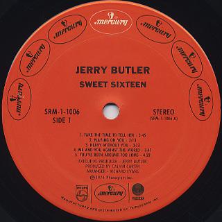 Jerry Butler / Sweet Sixteen label