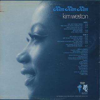Kim Weston / Kim Kim Kim back