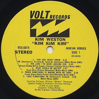 Kim Weston / Kim Kim Kim label