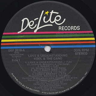 Kool and The Gang / Love and Understanding label