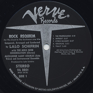Lalo Schifrin / Rock Requiem label