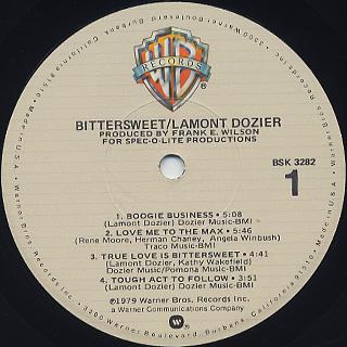 Lamont Dozier / Bittersweet label