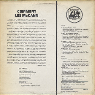 Les McCann / Comment back