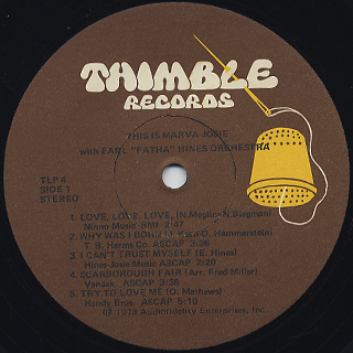 Marva Josie / This Is Marva Josie label