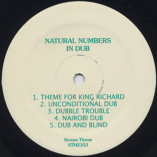 Natural Numbers / In Dub label