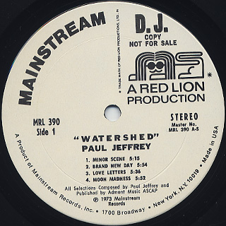 Paul Jeffrey / Watershed label