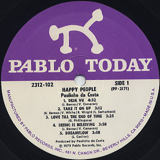 Paulinho da Costa / Happy People label