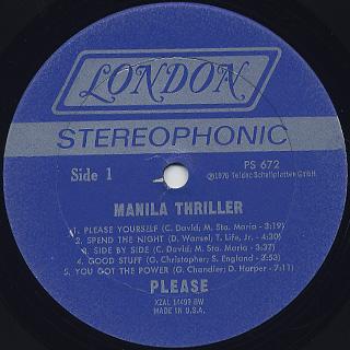 Please / Manila Thriller label