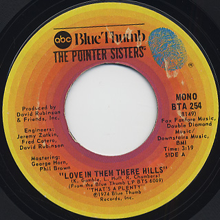Pointer Sisters / Love In There Hills c/w Fairytale
