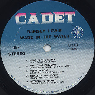 Ramsey Lewis / Wade In The Water label