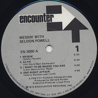 Seldon Powell / Messin' With label