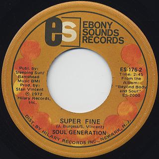 Soul Generation / Million Dollars c/w Super Fine back