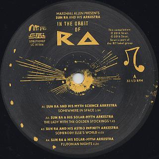 Sun Ra & His Arkestra / In The Orbit Of Ra label