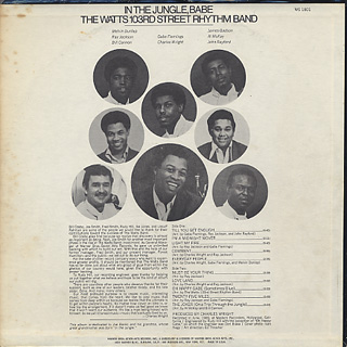Watts 103rd Street Rhythm Band / In The Jungle, Babe back