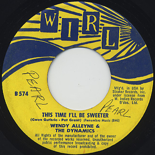 Wendy Alleyne & The Dynamics / Hold Me Love Me And Take Me Home back