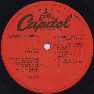 A Taste Of Honey / S.T. label