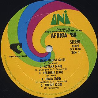 Africa '68 / S.T. label