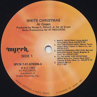 Al Green / White Christmas label