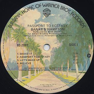 Banks And Hampton / Passport To Ecstasy label