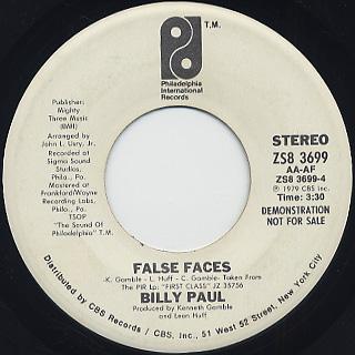 Billy Paul / False Faces