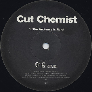 Cut Chemist / The Audience Is Rural back