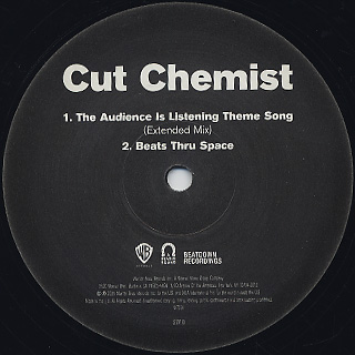 Cut Chemist / The Audience Is Rural label