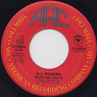D. J. Rogers / Trust Me back