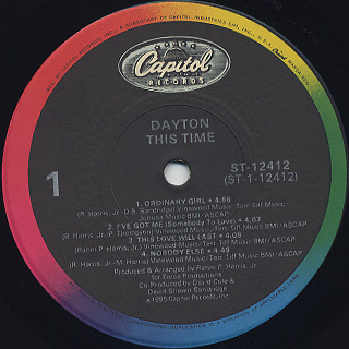 Dayton / This Time label