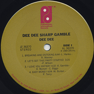 Dee Dee Sharp Gamble / Dee Dee label