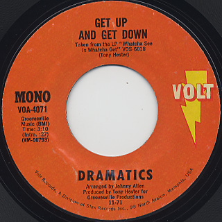 Dramatics / Get Up And Get Down c/w Fall In Love, Lady Love
