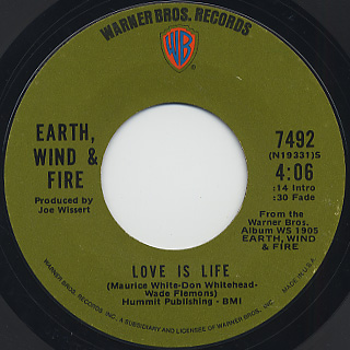 Earth, Wind & Fire / Love Is Life c/w Fan The Fire front