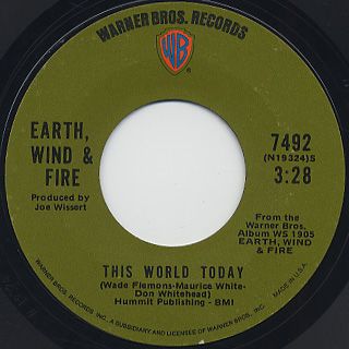Earth, Wind & Fire / Love Is Life c/w Fan The Fire back