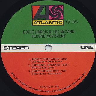Eddie Harris and Les McCann / Second Movement label