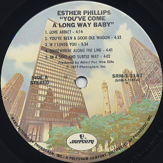 Esther Phillips / You've Come A Long Way, Baby label