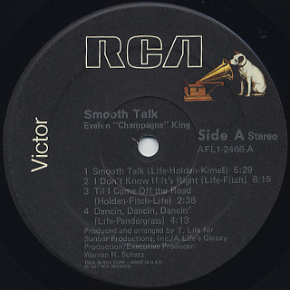 Evelyn Champagne King / Smooth Talk label