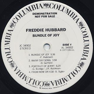 Freddie Hubbard / Bundle Of Joy label