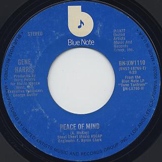 Gene Harris / Peace Of Mind c/w A Minor