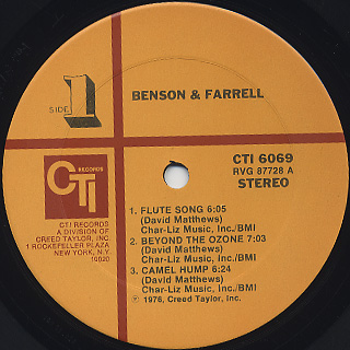 George Benson & Joe Farrell / Benson & Farrell label