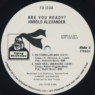 Harold Alexander / Are You Ready? label