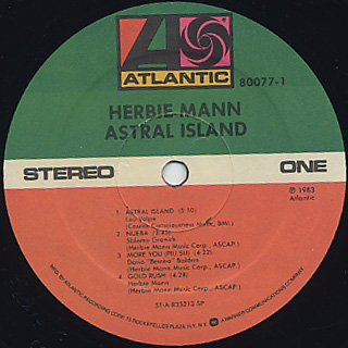 Herbie Mann / Astral Island label