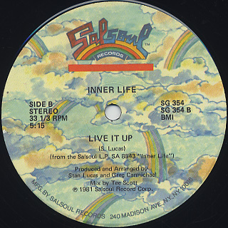 Inner Life / (Knock Out) Let's Go Another Round c/w Live It Up