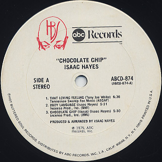 Isaac Hayes / Chocolate Chip label