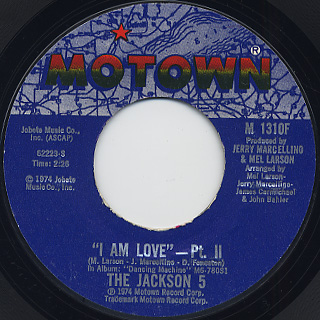 Jackson 5 / I Am Love back