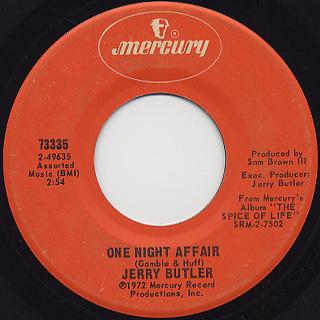 Jerry Butler / One Night Affair