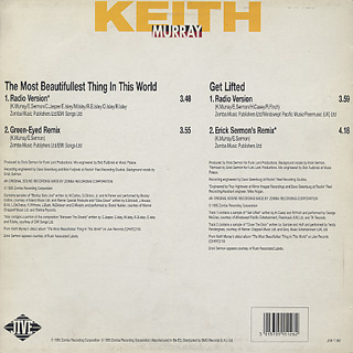 Keith Murray / The Most Beautifullest Thing In This World c/w Get Lifted back
