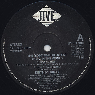 Keith Murray / The Most Beautifullest Thing In This World c/w Get Lifted label