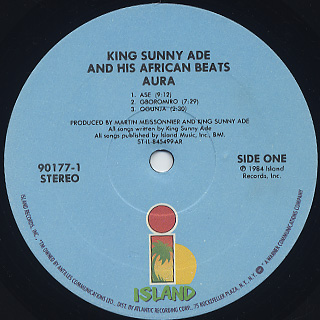 King Sunny Ade And His African Beats / Aura label