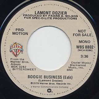 Lamont Dozier / Boogie Business (Edit) back