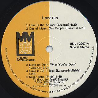 Lazarus / S.T. label