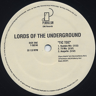Lord Of The Underground / Tic Toc label